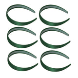 One inch wide, hunter green, satin headband
