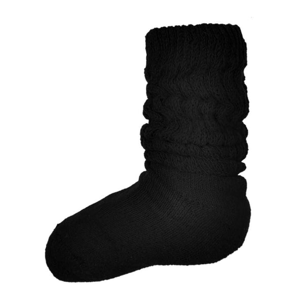 kids slouch socks, black