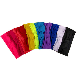 stretch knotted turban headband 12 pack, assorted colors