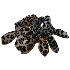 Leopard Scrunchies with tails