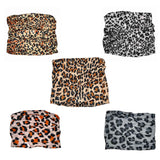 assorted pack of leopard print tube headbands