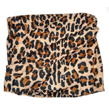 brown leopard tube headband