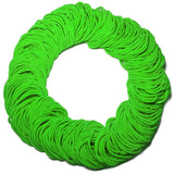 standard 2mm ponytail elastics, lime green hair elastics