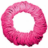 medium pink hair elastics wholesale pack