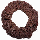 metallic brown hair elastics