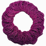 shiny pink hair elastics wholesale