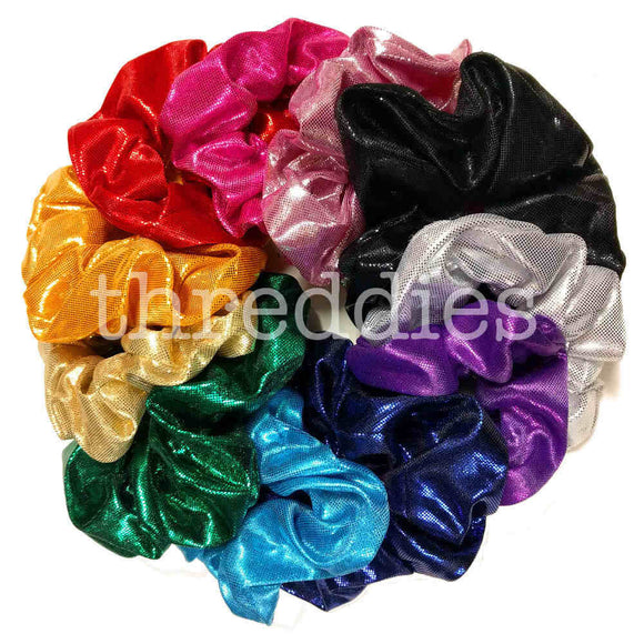metallic scrunchies swatches