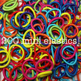 Threddies mini ponytail elastics in rainbow assortment, 200 pack