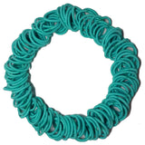 Threddies mini ponytail elastics in aqua