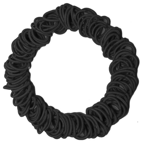 Threddies mini ponytail elastics in black