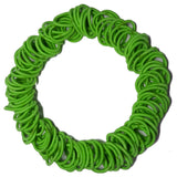 Threddies mini ponytail elastics in lime green