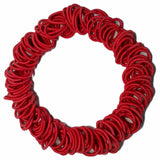 red mini ponytail elastics