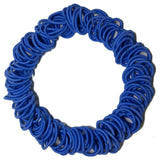 royal blue mini ponytail elastics