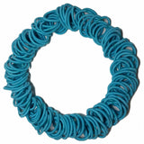 Threddies mini ponytail elastics in turquoise