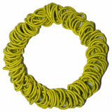 yellow mini ponytail elastics