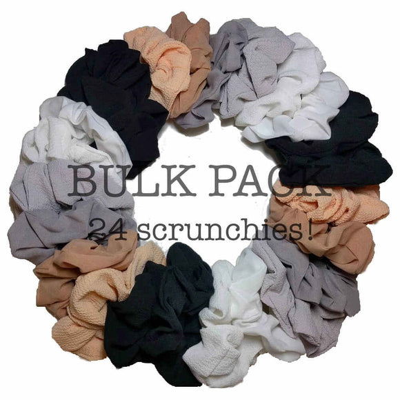 Mixed Texture Scrunchie bulk pack neutral assortment
