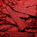 metallic red no-dent satin hair elastics