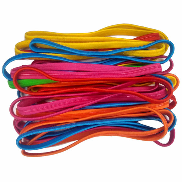 Threddies silicone grip elastic headbands set of 24