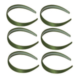 One inch wide, moss green, satin headband