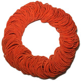 standard 2mm ponytail elastics, orange hair elastics