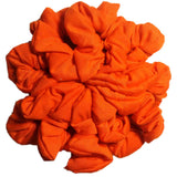 orange cotton scrunchies
