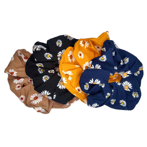 Oversized Daisy Scrunchies