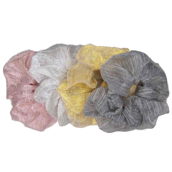 Oversized Organza Sparkle Scrunchies