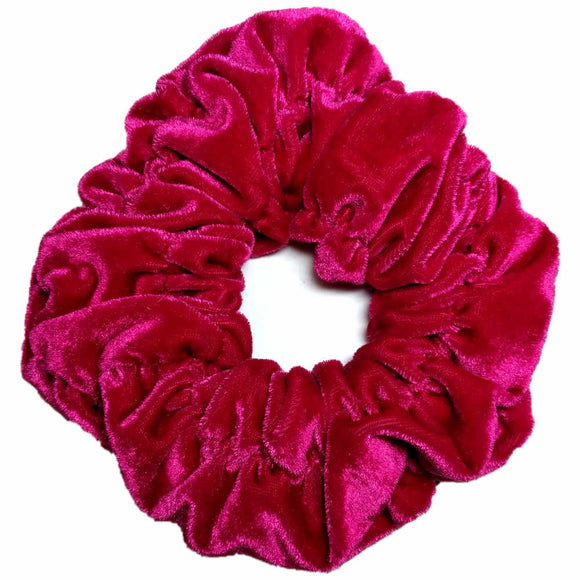 Hot Pink oversized velvet scrunchie