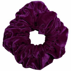 Oversized velvet scrunchie, purple
