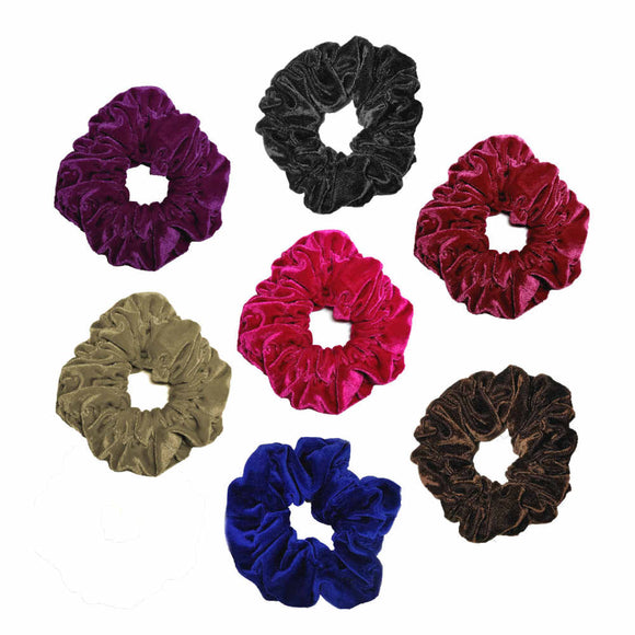 oversized velvet scrunchies, bulk pack