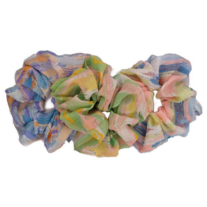 Painterly Pastel Scrunchies