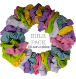 wholesale thermal scrunchies, pastel colors, 36 bulk pack