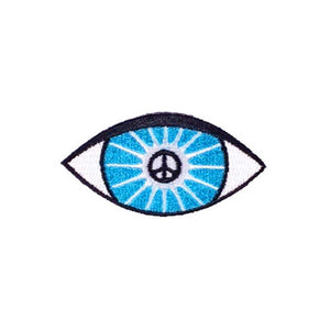 evil eye peace sign patch