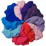 pink purple blue assorted scrunchies