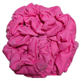 bubblegum pink cotton scrunchies