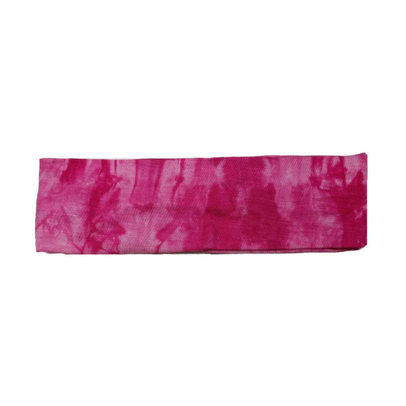hot pink tie dye headbands
