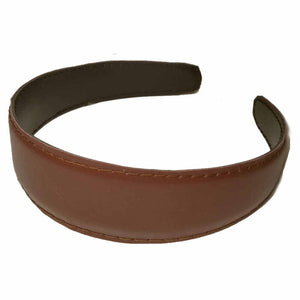 faux leather headband, Black