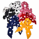 polka dot bow scrunchies