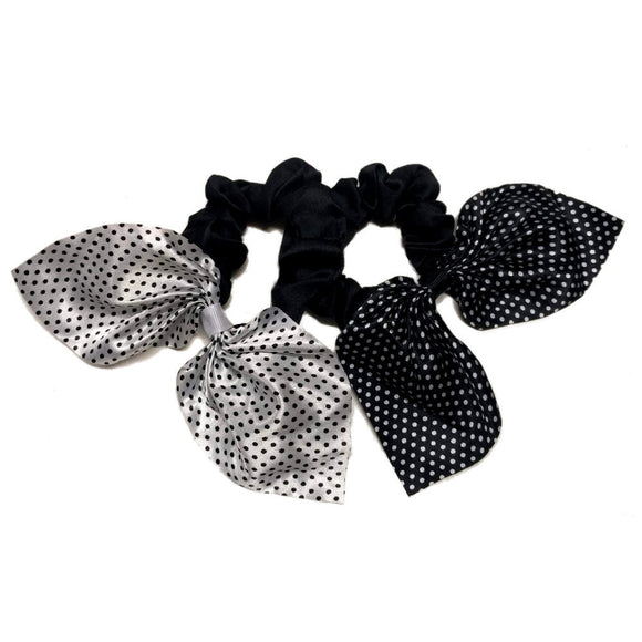 polka dot scrunchies with tails