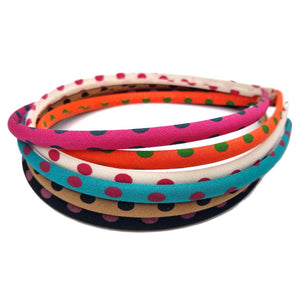skinny bright polkadot headbands