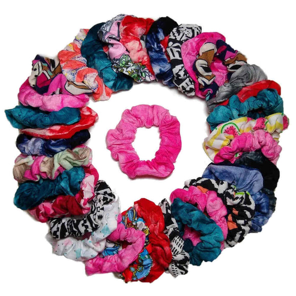 Print Scrunchie Assorted Party Pack, 36 wholesale Scrunchies
