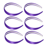 One inch wide, violet, satin headband