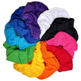 rainbow assorted cotton scrunchies