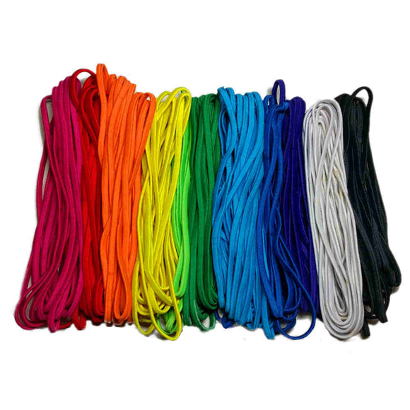 Skinny elastic headbands, rainbow assortment