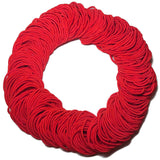 standard 2mm ponytail elastics, red hair elastics