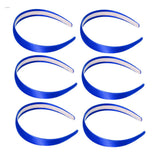 One inch wide, royal blue, satin headband