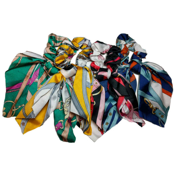 Satin Scarf Scrunchies with Tails