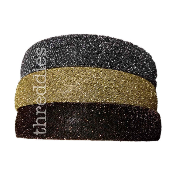 Wide shimmer headbands