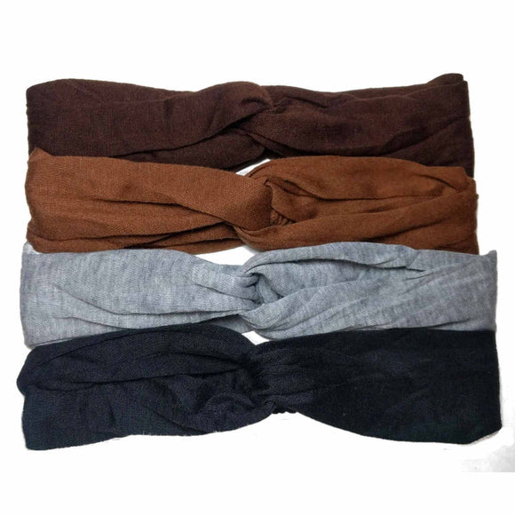 Soft T-shirt Turban Twist Headbands