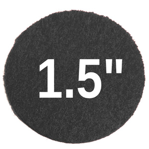 1.5 inch Sticky Felt Dots, black